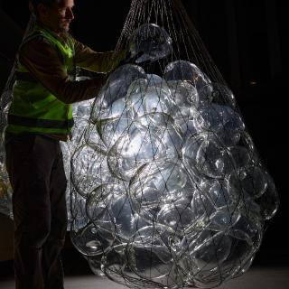 Catching your breath – Glass bubble installation - Tasmania